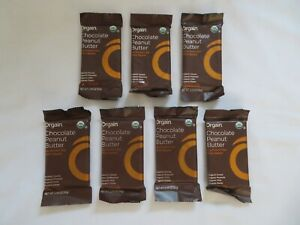 (7) Orgain 12 g Plant Based Protein Bars Chocolate Peanut Butter 2.05 Oz @3