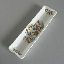 "AYNSLEY COTTAGE GARDEN 8"" LONG TRAY TRINKET DISH JEWELLERY RING FINE BONE CHINA"