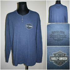 HARLEY DAVIDSON Men's Long sleeve Waffle knit T-shirt / Top