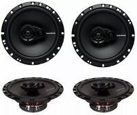 """Rockford Fosgate R165X3 6.5"""" 90W 3 Way Car Audio Coaxial Speakers Stereo, 4 Pack"""