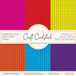 Colourful Tiles Card Making Scarpbooking 300gsm Circuit Cameo A4 Craft Cardstock