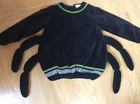 Itsy Bitsy SPIDER Halloween Costume POTTERY BARN KIDS Black Velvet Top 4-6 Kids