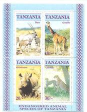 Tanzanian Sheet Postal Stamps