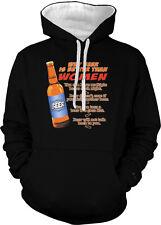 Why Beer Is Better Than Women Bottle Multiple Go Flat Two Tone Hoodie Sweatshirt