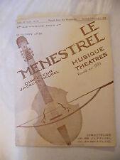 Partition Le Ménestrel Musique Théâtres N°49 1936