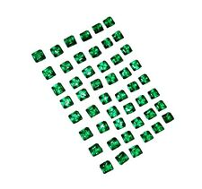 Beautiful 50 Pieces 6.90 Ct Square Zambia Emeralds For Sale Hurry Up