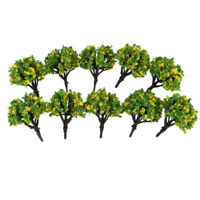 10pc 1: 200 Échelle Trains Paysage de bricolage Paysage Modèles d'arbres