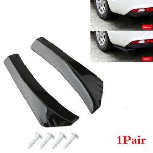 2xCar Body Rear Deflector Spoiler Splitter Diffuser Bumper Canard Lip Wrap Angle