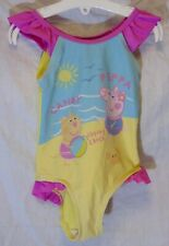 Girls Nutmeg Pink Peppa Pig Candy Cat Swimming Costume Swimsuit Age 2-3 Years