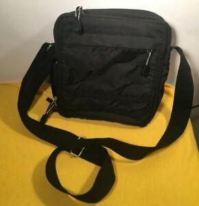 DEREK ALEXANDER Crossbody Black Hipster Nylon Handbag Shoulder Strap