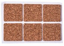 """Self-Stick Cork Pads (36 Piece) 1"""" x 1"""" Square - You Get 2 Packs Of 36"""