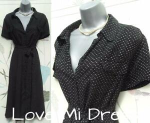 WW2 40's style Polka Dot Tea Day Dress Sz 18 EU46