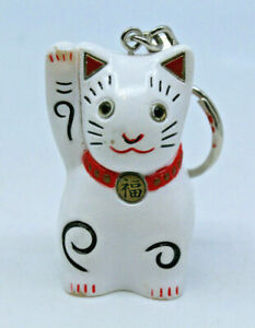 Kansai International Airport KIX Osaka Maneki Neko Lucky Cat Keychain Japan Rare