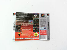 Jaquette Arriere/Back Cover tekken 3 Sony Playstation 1 PS1 FR