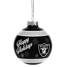 Oakland Raiders Glass Ball Ornament Christmas Holidays NFL