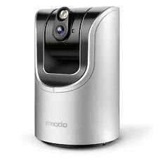 Zmodo Wireless Pan Tilt Smart IP Network 720p Two Way Audio Home Security Camera