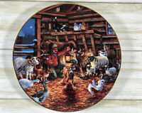 Lowell Davis Vintage Plate Country Christmas 1987 Schmid #324/7,500