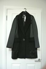ZARA MASCULINE COAT WITH COMBINED FABRIC SIZE L