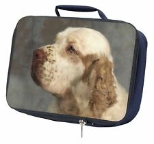 More details for clumber spaniel dog navy insulated school lunch box bag, ad-cs1lbn