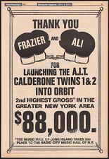 MUHAMMAD ALI vs JOE FRAZIER__Original 1971 Trade AD / Calderone theatre promo ad