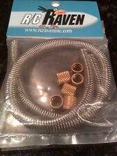 Coiled Nitro Engine Fuel Line Protector 12 inch 2 pack Gold  NIP -FREE SHIPPING!