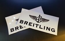 2 x Brietling Stickers Race & Rally Car Stickers. 140mm x 60mm