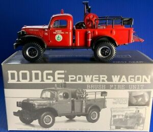 Rare 1st Gear Dodge Power Wagon Brush Fire Unit Truck Highly Detailed MIB