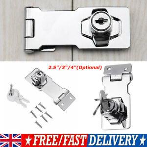 Heavy Duty Locking Hasp and Staple with Keys Padlock Cupboard Shed Garage Lock