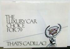 1979 Cadillac Fleetwood deVille Eldorado Seville Color Sales Brochure Original