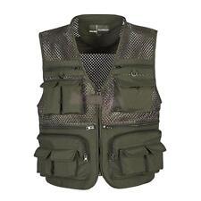 Men's Multi-Pocket Fishing Mesh Vest Photography Quick-Dry Jacket Zip Waistcoat
