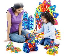 Magnet Tiles 158pc Clear Color 3D Magnetic Building Blocks Tiles Educational Toy