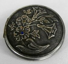 Russia vintage cupronickel with silvering powder compact USSR 3