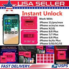 R-SIM15 14+ Nano Unlock RSIM Card for iPhone 11 Pro XS MAX XR X 8 7 6+ iOS13 LOT