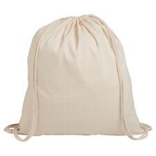 50 X Natural 100 Cotton Eco Drawstring Rucksacks 40 X 34cm Gym Bags Backpack UK