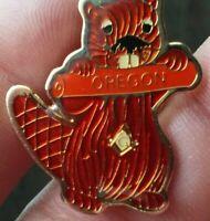 Oregon Beaver Masonic pin badge