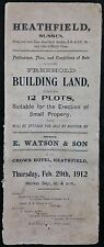 Vintage Property Particulars for Sale by Auction, 1912 - Heathfield, Swaines Way