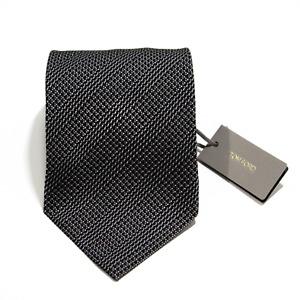 Men's Tom Ford 100% Silk Black Gray Microcheck Woven Neck Tie MSRP $240