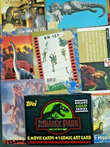 1992 Topps Collectors Edition Deluxe Gold Series Jurassic Park Sealed Pack