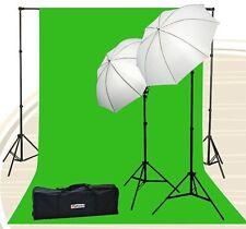 Chromakey Green Screen Kit 800 watt 10x20 Ft Chroma Key Green Screen Photo Video