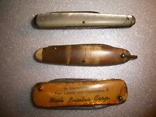 Vintage 3x Pocket Knives !