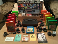 1977 ATARI VCS Factory Reconditioned Heavy Sixer Console System Original BOX LOT