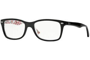 New Authentic Ray Ban RB5228 5014 Black Eyeglasses Frames 50-17-140