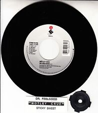 "MOTLEY CRUE  Dr. Feelgood & Sticky Sweet 7"" 45 record + juke box title strip NEW"