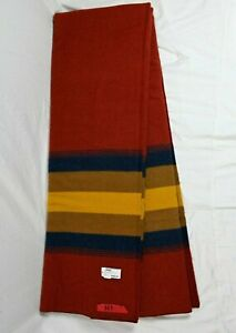 """Brand New Pendleton Zion National Park Full Size Blanket 90"""" x 80"""" USA Red"""