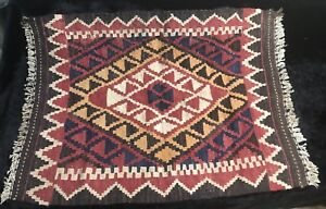 Early 20th Cent. Hand Woven/Dyed Turkish Esme Kilim Saddle Blanket
