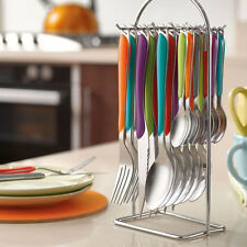 Amefa Eclat Kaleidoscope 24 Piece Stainless Steel Cutlery Set with Hanging Stand