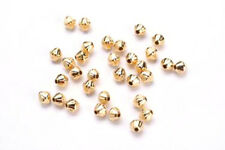 25 Gold Plated Groovie Bicone Spacer Beads 3MM