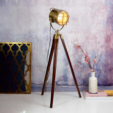 Retro Classic Theater/Stage Light + Tripod Art Deco Stylish Nautical Floor Lamp