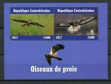 Central African Republic 2017 CTO Birds of Prey 2v M/S III Raptors Stamps