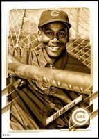 Ernie Banks 2021 Topps 5x7 Variation Short Prints Gold #4 /10 Cubs